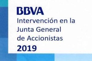 Intervencion Junta General BBVA 2019